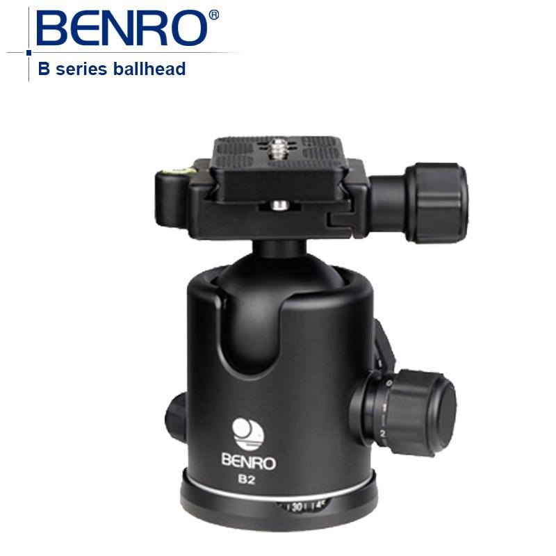 Benro B2 Chaude Professionnel Magnésium Vidéo Tête Bual Action Rotule Avec Plateau Rapide Stable REFLEX Caméra Vidéo Stabilisateur