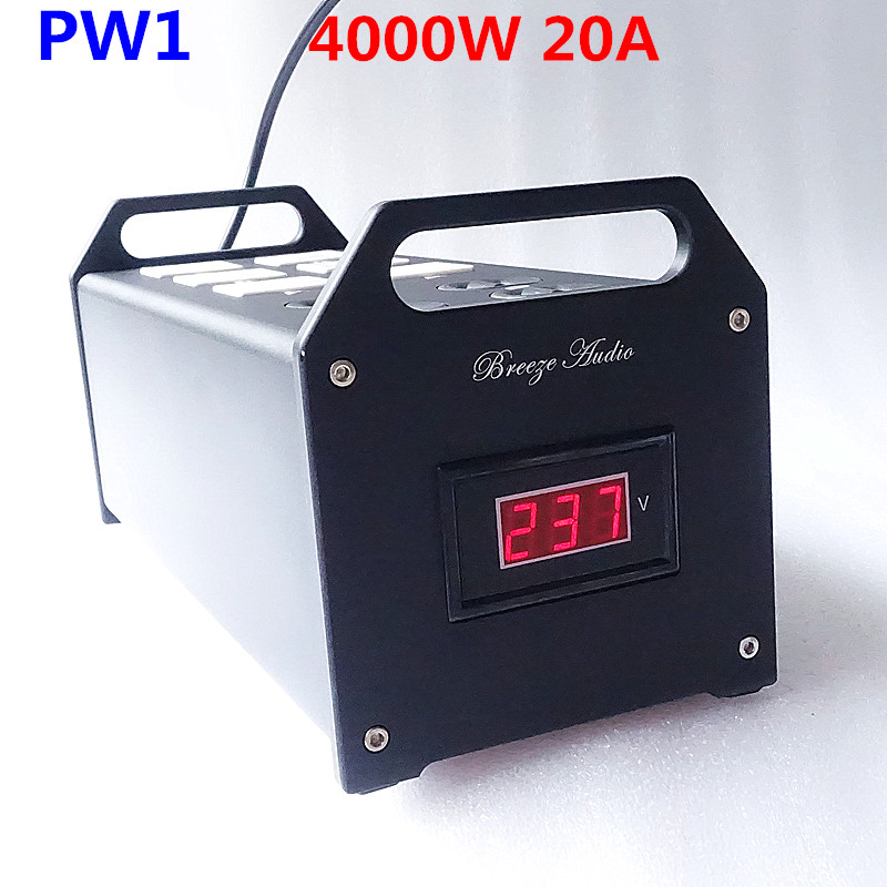 weiliang audio & Breeze Audio PW1 power supply filter 4000W 20A input 90V -240V  for audio power amplifier decoder computer waudio w 4000 high end audio noise filter ac power conditioner power filter power purifier with eu outlets