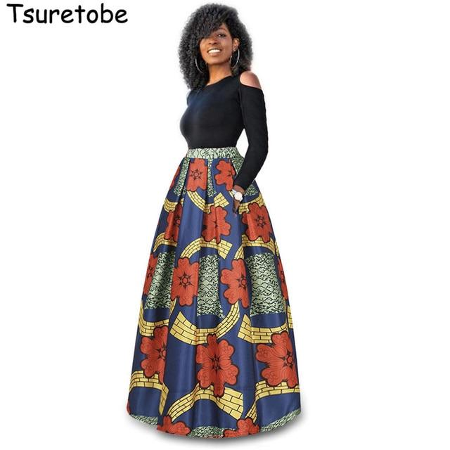 US $22.98 35% OFF|Tsuretobe Two Pieces Long Floral Print Dresses Women Plus  Size Fashion Casual Elegant Dress Long Sleeve Maxi Dress Vestidos-in ...