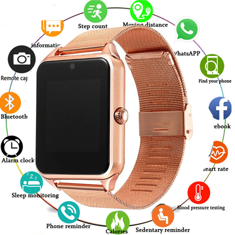 Hot Sale Bluetooth Smart Watch Z60 Men Women Bluetooth 2G Smartwatch Support SIM/TF Card Wristwatch For IOS Android Phone PK A1