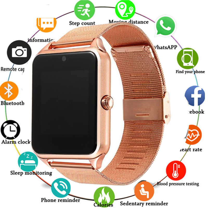 Hot sale Bluetooth Smart Watch Z60 Men Women Bluetooth 2G Smartwatch Support SIM/TF Card Wristwatch For IOS Android Phone PK A1