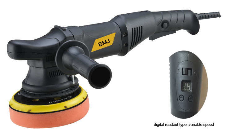 big throw thread 21mm 6 speed variable 6 inch 125mm digital readout type  dual action random orbital polisher buffer 700w 110v 120w orbital professional variable speed polisher with terry cloth bonnet
