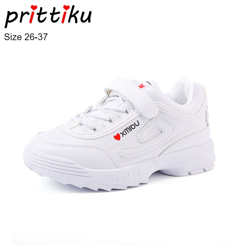 Spring 2018 Girl Boys PU Leather Sneakers Toddler/Little/Big Kid Brand Pink White Black Trainers Child School Sport Casual Shoes teva jansen leather kids sport shoe toddler little kid big kid