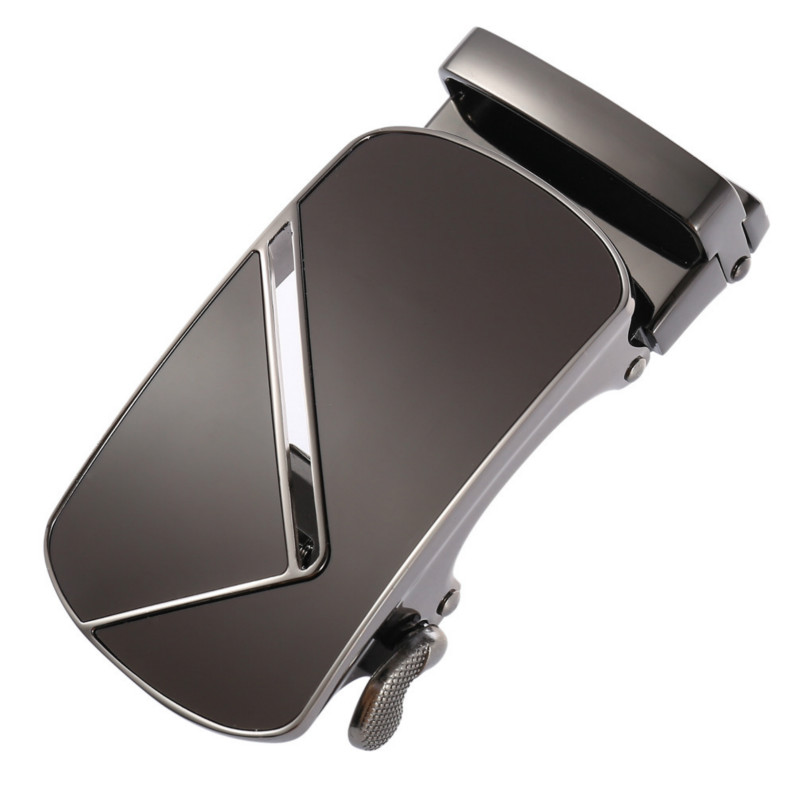 New Automatic Buckle Head Alloy Automatic Buckle 3.5cm Ratchet Men Apparel Accessories Designer Belt LY155-02456