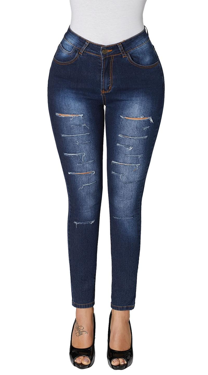 Blue-Faded-Denim-Wash-Leg-Ripped-Skinny-Jeans-LC786018-5-1