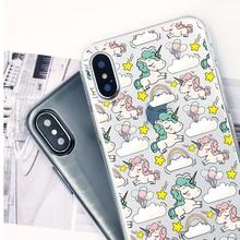 Cute Cartoon Unicorn Printed Silicone Phone Case
