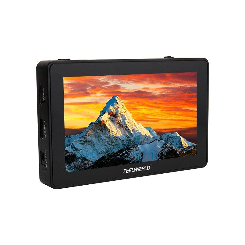 Feelworld F6 PLUS Touchscreen Monitor Aluminium Legierung F 5,5 Zoll 3D Lut 4K Auf-Kamera DSLR Kamera auf Gimbal Monitor