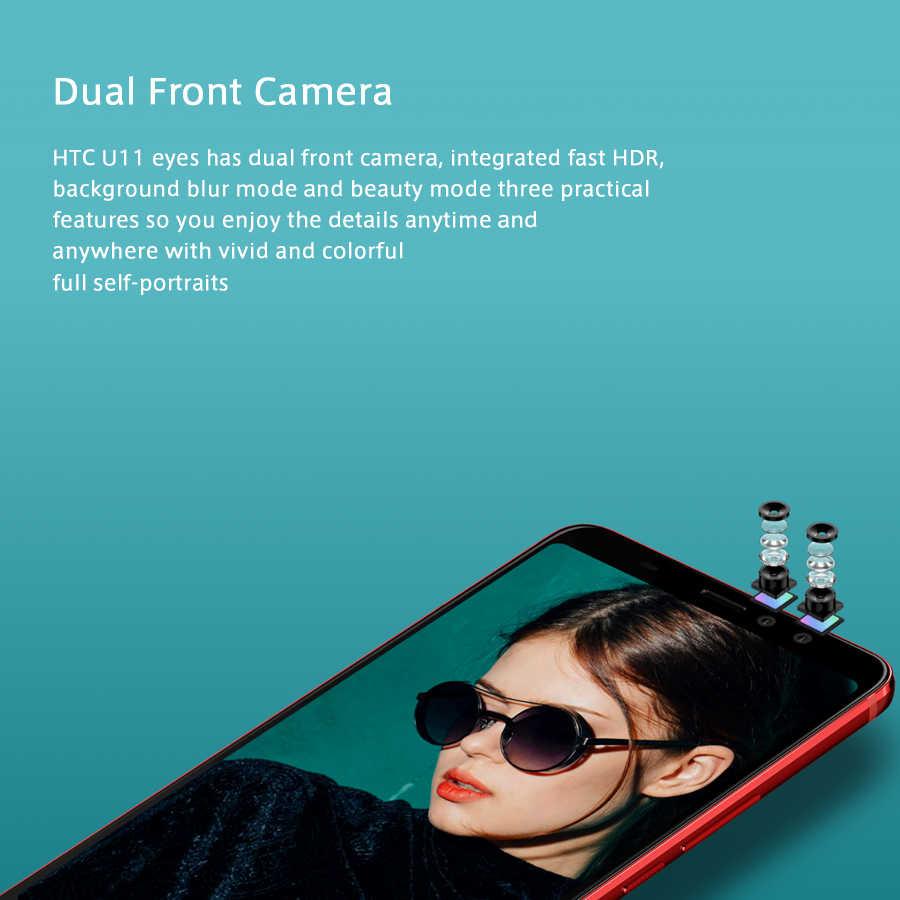 """Nouveau téléphone portable d'origine HTC U11 EYEs 4G LTE double SIM 6.0 """"4 go de RAM 64 go ROM Snapdragon 652 Octa Core IP67 téléphone d'appel Android NFC"""