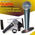 Бесплатная Доставка! обновленная Версия Beta 58a Вокальный Караоке Ручной Динамический Проводной Микрофон BETA58A Beta 58 Этап Певица Микрофон Майк