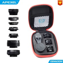 APEXEL Camera Lens 7in1 in mobile phone Fisheye Wide Angle m