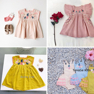 Boutique! Exquisite Embroidered Dress Children's Summer Beautiful Dress Baby Girl Floral Dress Fashion Luxury Toddler Dresses(China)