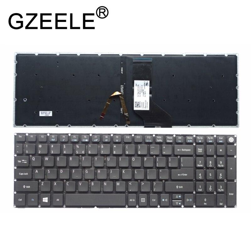 GZEELE New For Acer Aspire E15 E5-573G E5-573T E5-574G E5-574 E5-575G E5-573TG Keyboard English US Backlit Backlight Black