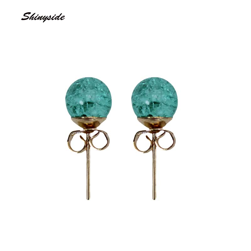 2017 new Fashion brand jewelry simple beads Christmas stud earrings for women metal statement gift earrings free shipping