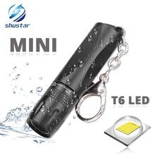مصباح يدوي صغير مصباح LED فائق السطوع استخدام T6 خرزة مصباح إضاءة مقاومة للماء الشعلة مدعوم من بطارية AA مناسبة للاستخدام في الهواء الطلق