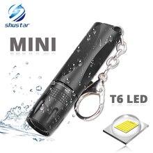 MINI süper parlak LED el feneri kullanımı T6 lamba boncuk su geçirmez led el feneri AA pil Powered by dış mekan kullanımı için uygun
