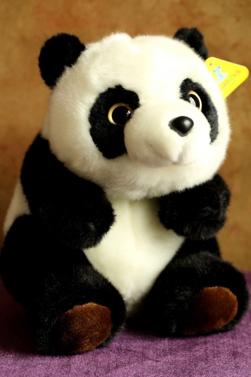 Free Shipping 25 CM High Quality Panda Stuffed Toys Cute Stuffed Animals & Plush Toys Best Kids Toys Birthday Gifts fancytrader new style giant plush stuffed kids toys lovely rubber duck 39 100cm yellow rubber duck free shipping ft90122