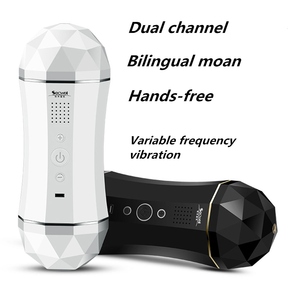 Dual Channel Smart Aircraft Cup Japanese AV Porn Star Real Voice Masturbator For Male Vagina Real Pussy Adult Sex Toy For Men image