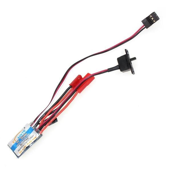 XT-XINTE RC 10A Brushed ESC Two Way Motor Speed Controller With/Without Brake For 1/16 1/18 1/24 Car Boat Tank F17784/85