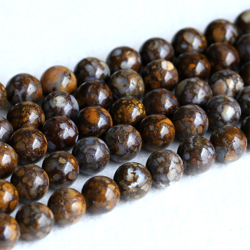 Natural Genuine Bronze Brown Opal Round Loose Gemstone Stone Beads 4mm 6mm 8mm 10mm 12mm 15 05219