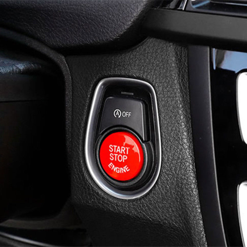 ABS Plastic Red Engine Start Stop Button Cover 3D <font><b>Sticker</b></font> Decal For BMW F Chassis Series F10 <font><b>F20</b></font> F30 Car Styling image