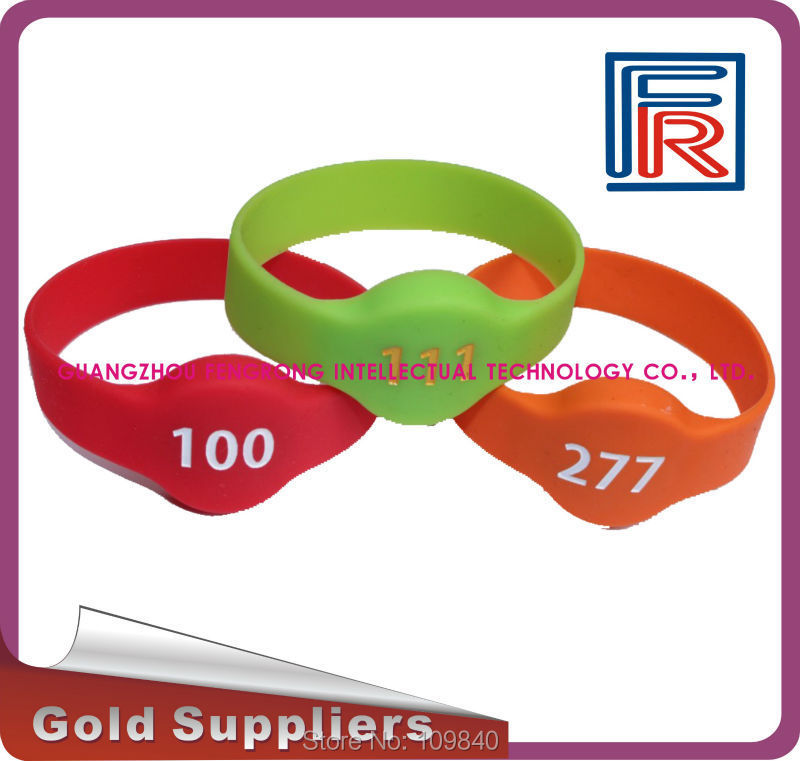 1000pcs silicone EM wristband/Read-only waterproof RFID bracelet for SPA/Fitness/Sauna/Access control