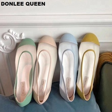 2019 Candy Color Flats Ballet Shoes Women Round Toe Shallow Ballerina Mesh Summer Shoes Slip On Flat Casual Loafer zapatos mujer недорго, оригинальная цена