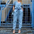 Женщин Высокого Качества Бренда Новый Летний Мода Женская Повседневная Комбинезоны Брюки Джинсовые Комбинезон Ползунки Одежда Джинсы Комбинезоны