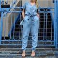 Mujer Marca de Alta Calidad Nueva Moda de Verano Para Mujer Casual Trajes Pantalones de Mezclilla Mono Ropa Del Mameluco Del Mono de los Pantalones Vaqueros