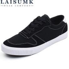 LAISUMK Brand 2019 New Style Men Casual Shoes Canvas Male Footwear Comfortable Flat Shoes Lace-Up Vulcanized Shoes Men Loafers the merchant of venice pearl bouquet extrait de parfum