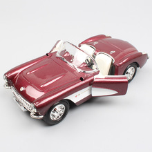 1:24 Scale Road signature vintage 1957 Chevrolet Corvette Chevy Vette Sting Ray Diecasts & Vehicles model toy Hobbies metal boys
