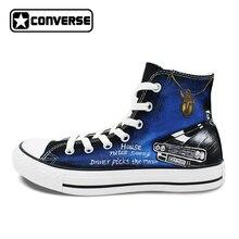 Дизайн Converse All Star ручная роспись кроссовки Сверхъестественное мужчины Скейтбординг обувь парусиновая обувь на плоской подошве женские брендовые Chuck Taylor обуви