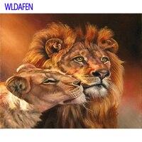 Leสิงโตet la lionneรูปภาพภาพวาดDIYโดยตัว