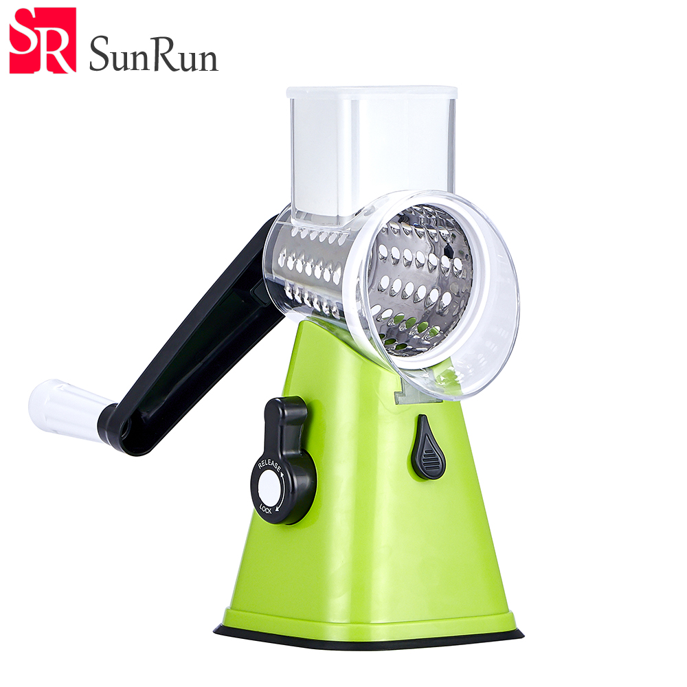 YANG MING Stainless Steel Vegetable Cutter Adjustable Slicer Grater Fruit Shredder Rotary Cutting Machine Kitchen Accessories