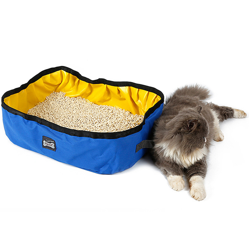 Pet Cat Travel Foldable Portable Outdoor Cat Litter Waterproof Collapsible Box Kitten Toilet Training Bedpan Pl0066