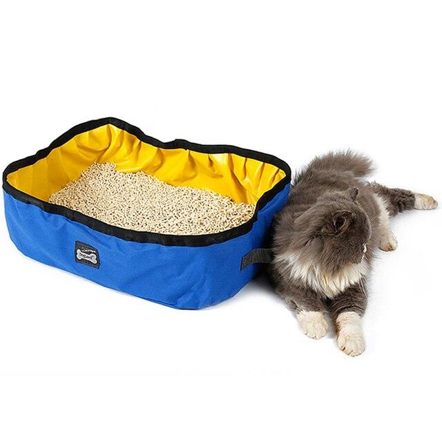 Pet Cat Travel Foldable Portable Outdoor Litter Waterproof Collapsible Box Kitten Toilet Training Bedpan Pl0066