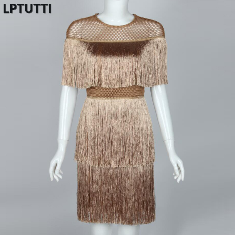 LPTUTTI Tassel New Sexy Woman Social Festive Elegant Formal Prom Party Gowns Fancy Short Luxury Cocktail Dresses