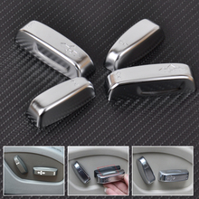 beler New Chrome Car Styling font b Interior b font Seat Adjustment Switch Knob Button Cover
