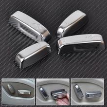 Beler новый Chrome стайлинга автомобилей интерьера регулировки сиденья переключатель ручка Кнопка чехол накладка для Volvo XC60 XC70 V40 V60 S40 s60 C30 C70