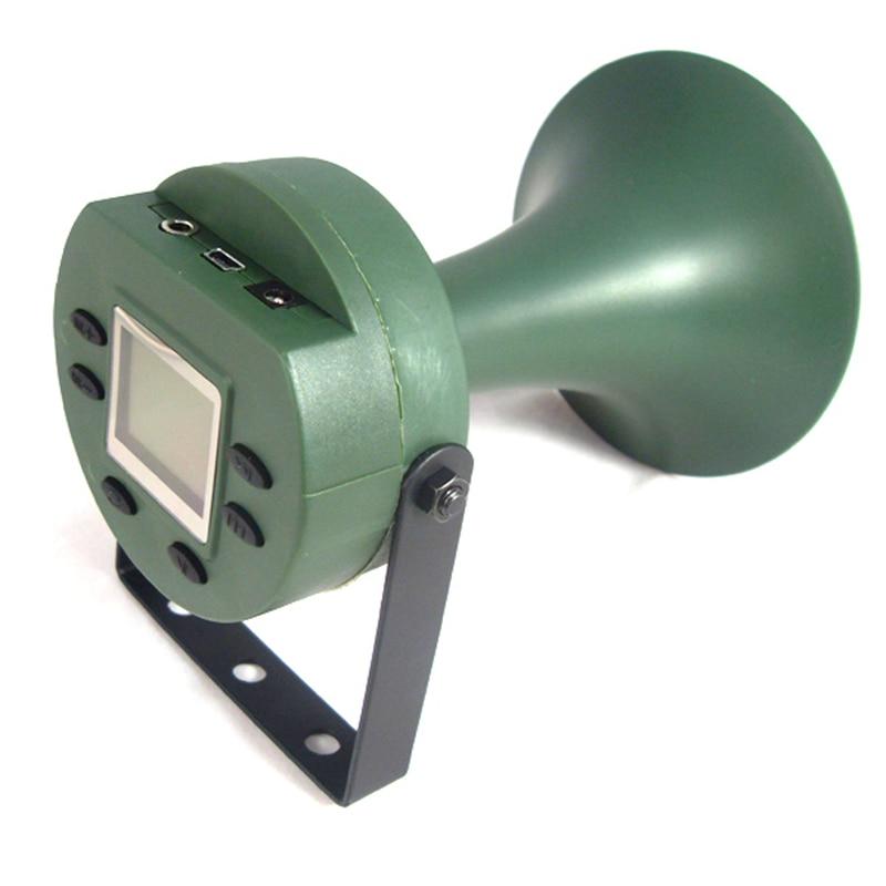 Bird Scarer CP-395 mp3 Player Hunting Bird Calls Machine 35W Neodymium Louder Built-in 182 Bird Speaker Decoy Sounds Device 2016 new cp 390 outdoor hunting birds caller hunting mp3 player 35w loud speaker decoy built in 110 sounds 130db bird sounds