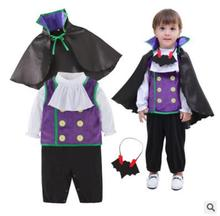 赤ちゃんヴァンパイア衣装幼児幼児 3 本用セットベスト + マント + ロンパース子供ハロウィン休日purim 0utfits小売