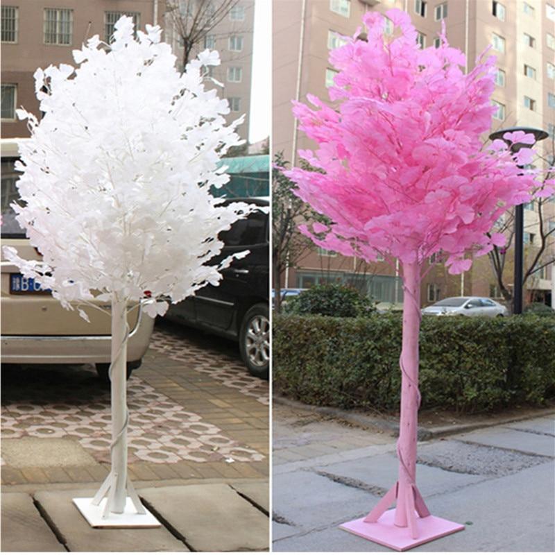 2018 accessoires de mariage blanc Ginkgo route cité colonnes vacances souhait arbre fête bienvenue zone décoration fournitures
