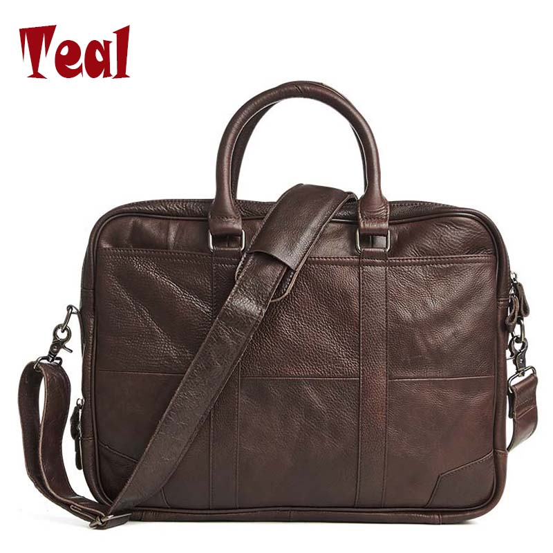 Men Business Bags Men Genuine Leather Briefcase Bag Handbag Laptop Messenger Crazy Horse Large Capacity Bag 2017 New new retro briefcase men bag crazy horse genuine leather men handbag men shoulder large capacity bussiness bag zipper laptop bag