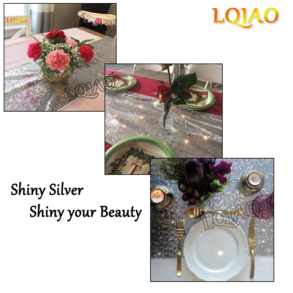 Silver Sequin Table Runner-001