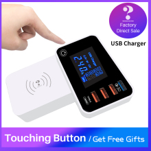 QI Wireless Charger Quick Charge  Type C 3.0 Smart USB Charging Station Hub Fast Charger Adapter for Xiaomi iphone x Samsung s10 цена и фото