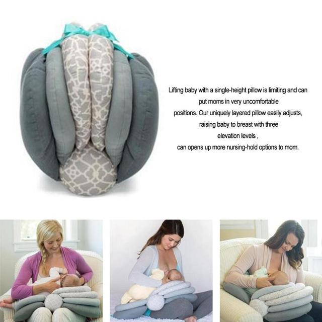 Adjustable Baby Multifunction Nursing Pillow With Layered Washable Cover 3