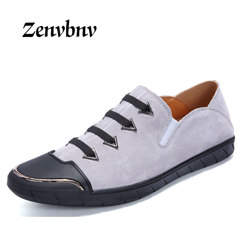 ZENVBNV 2018 Men Casual shoes Man Pig Suede Sneaker Size 39-44 Male Loafers Shoes Genuine Leather Shoes Autumn Outdoor Footwear rax suede leather casual shoes men warm autumn and winter outdoor shoes slip cushioning wear casual shoes size 39 44 b2039