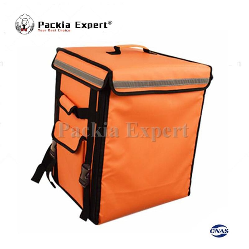 Sac d'isolation de sac à dos de transporteur de nourriture de la couleur Orange 58L 43*35*53 cm, sac de pizza de livraison de paquet de nourriture PEHS433553