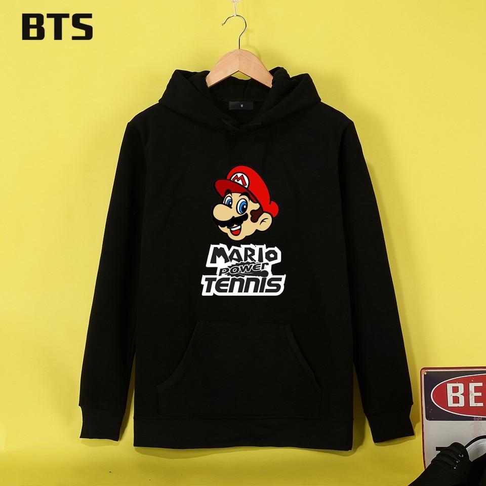 China-01 Store BTS Super Mario Hoodies Mulheres Brand Fashion Sweatshirt Women Cool Hipster Brand Winter Women Hoodies Sweatshirts Kawaii