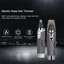 Tondeuse de nez rasoir électrique tondeuse oreille tondeuse épilateur hommes AA batterie Machine à raser pour nez oreille coupe outil P0
