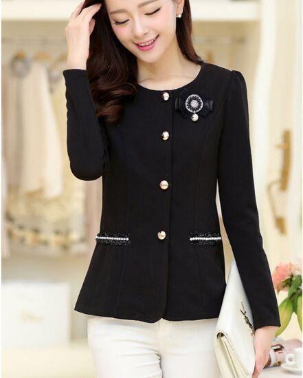Spring Autumn Women Slim...